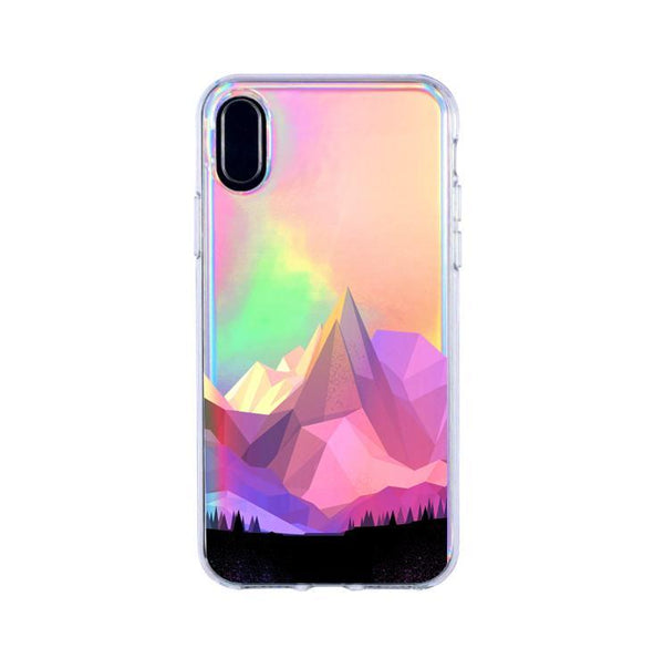 holographic geo mountain iphone x case