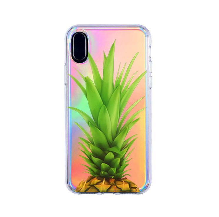 holographic pineapple head iphone x case