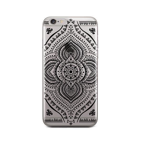 Black Opulent Mandala iPhone 6 / 6S Case Clear