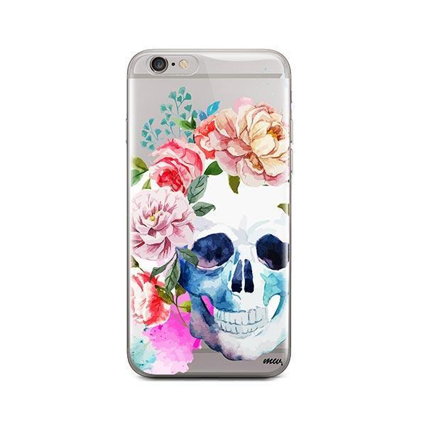 Colored Floral Skull iPhone 6 / 6S Case Clear