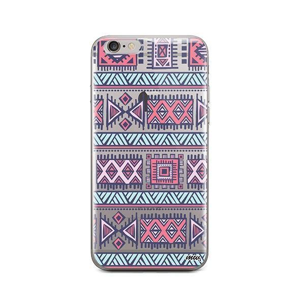 Colored Aztec iPhone 6 Plus / 6S Plus Case Clear