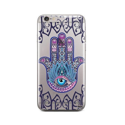 Colored Hamsa - iPhone Clear Case