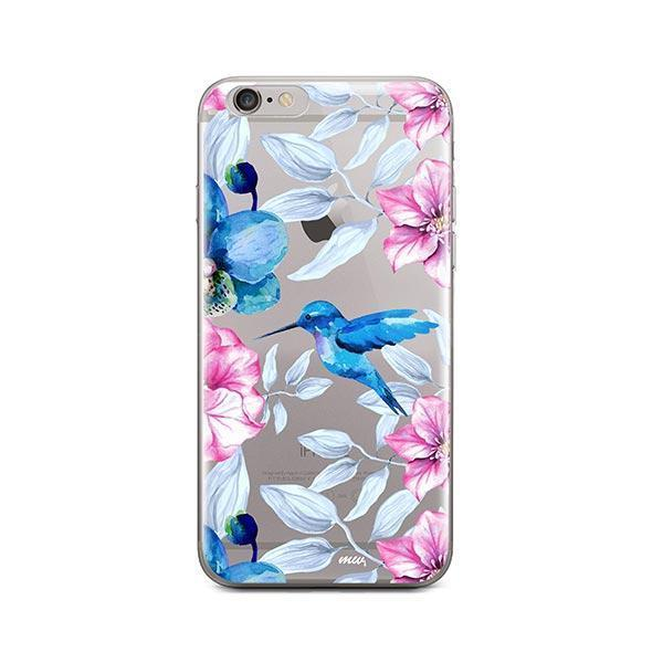 Colored Vintage Hummingbird - iPhone 6 / 6S Case Clear