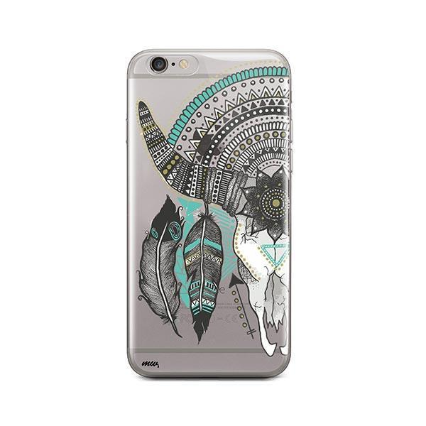 Feathered Mandala Animal Skull iPhone 6 / 6S Case Clear