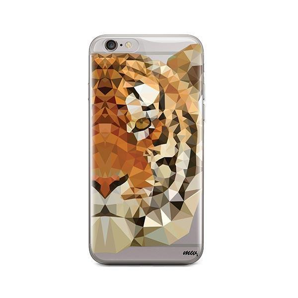 Geometric Tiger - iPhone 6 / 6S Case Clear