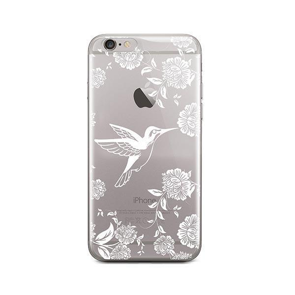 White Vintage Hummingbird - iPhone 6 / 6S Case Clear