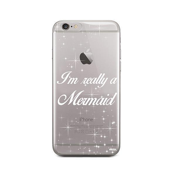 detailed pictures 82e7d 79344 I'm Really a Mermaid iPhone 6 Plus / 6S Plus Case Clear