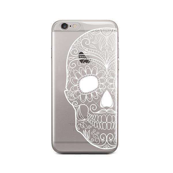 Henna Floral Skull iPhone 6 / 6S Case Clear
