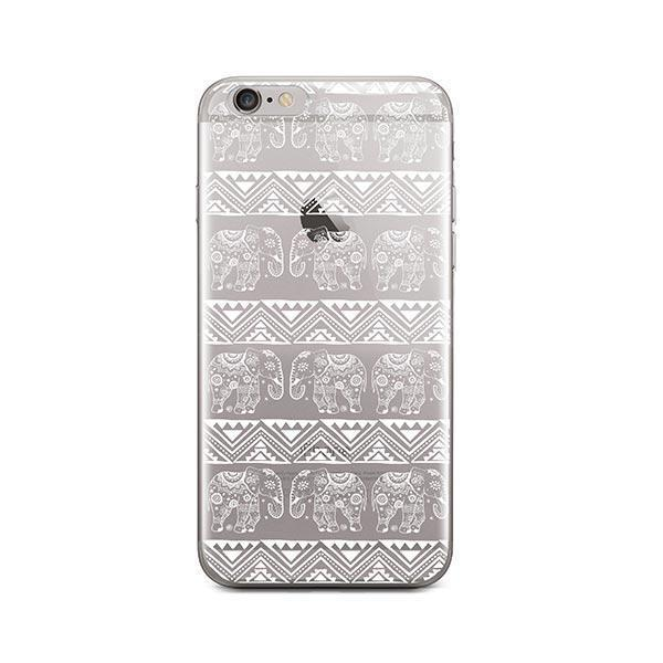 Henna Lotus Floral Elephant - iPhone 6 / 6S Case Clear