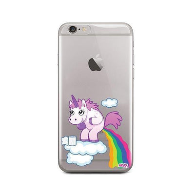 Pooping Unicorn - iPhone Clear Case