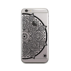 Black Henna Lotus Mandala iPhone 6 / 6S Case Clear