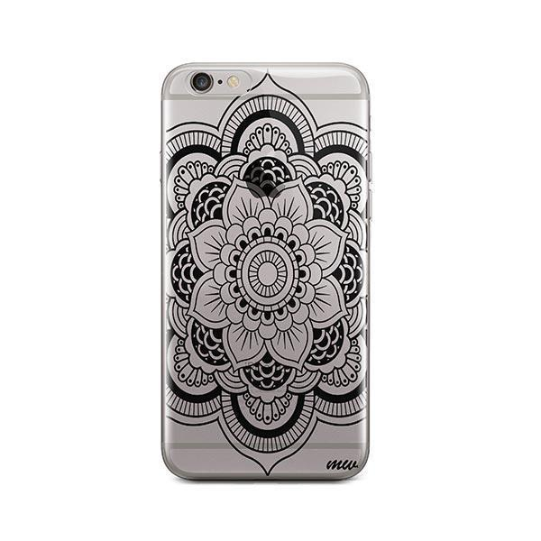 Black Henna Full Mandala iPhone 6 / 6S Case Clear