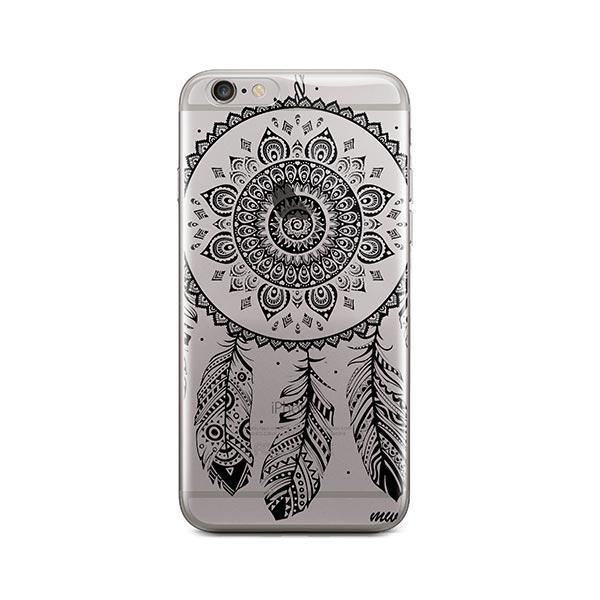 Black Henna Ojibwe iPhone 6 / 6S Case Clear