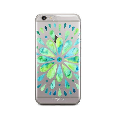 Watercolor Mandala - iPhone Clear Case