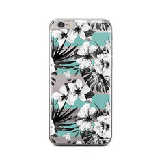 Black and White Floral iPhone 6 / 6S Case Clear