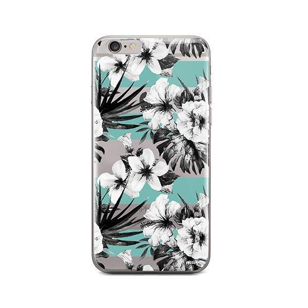 best sneakers df42d d93a6 Black and White Floral iPhone 6 Plus / 6S Plus Case Clear
