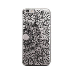 Black Mandala iPhone 6 / 6S Case Clear