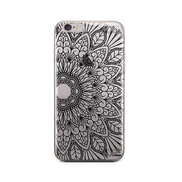 Black Mandala iPhone 6 Plus / 6S Plus Case Clear