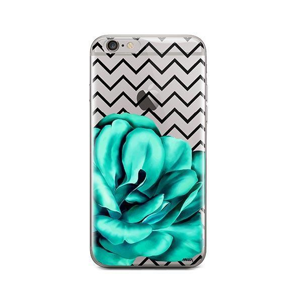 Blue Camelia iPhone 6 / 6S Case Clear