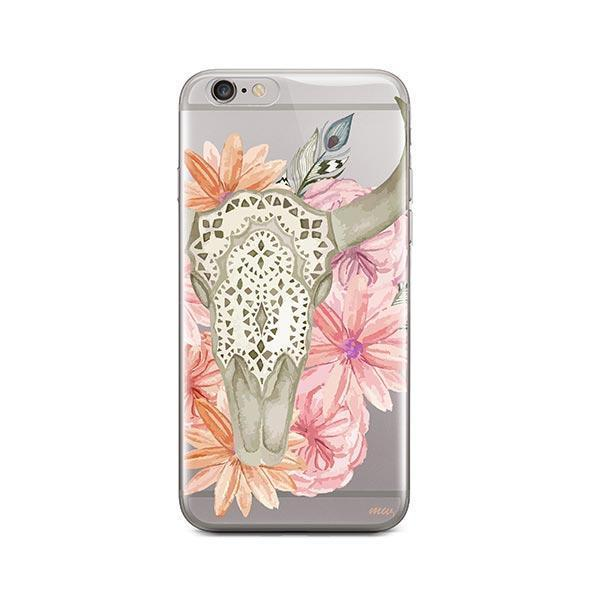 Boho Skull iPhone 6 / 6S Case Clear