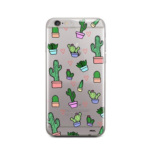 Cactus Love iPhone 6 / 6S Case Clear