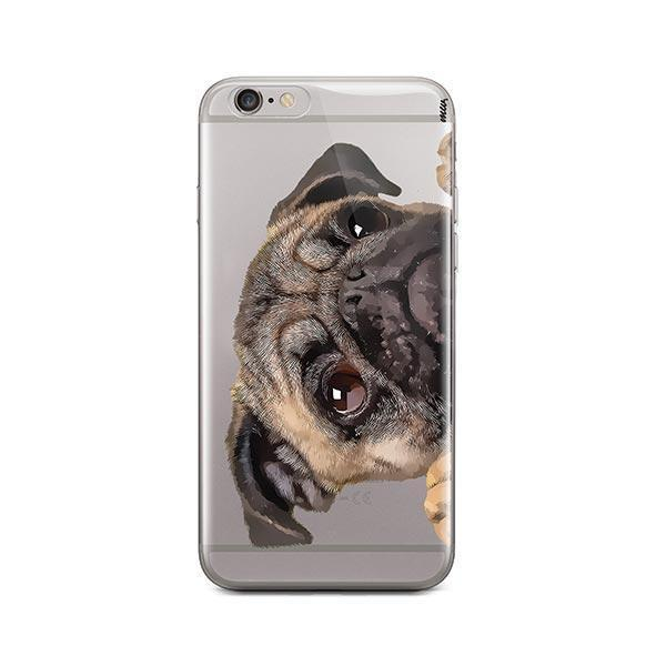 low priced a37a0 b83ae Cry Baby Pug - iPhone 6 Plus / 6S Plus Clear Case