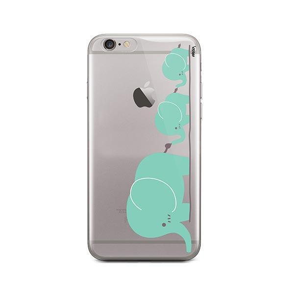 Elephant Family - iPhone 6 / 6S Case Clear
