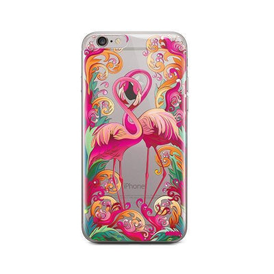 Flaming Flamingo - iPhone Clear Case
