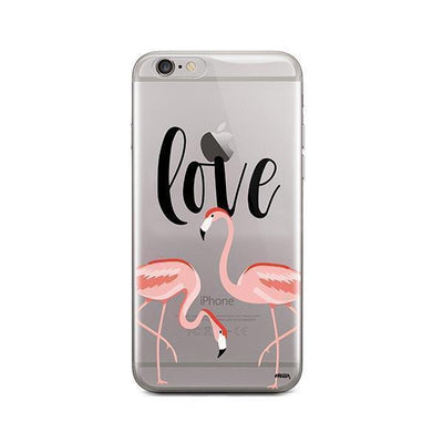 Flaming Love - iPhone Clear Case
