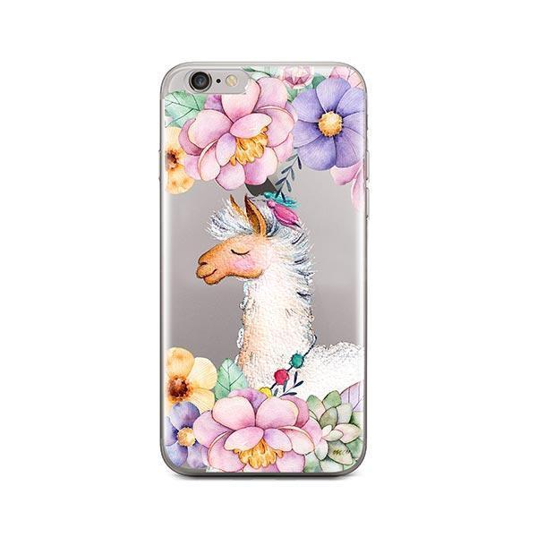 Floral Llama iPhone 6 / 6S Case Clear