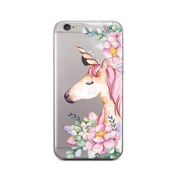 Floral Unicorn iPhone 6 / 6S Case Clear