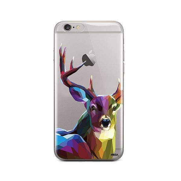 Geometric Deer - iPhone 6 / 6S Case Clear