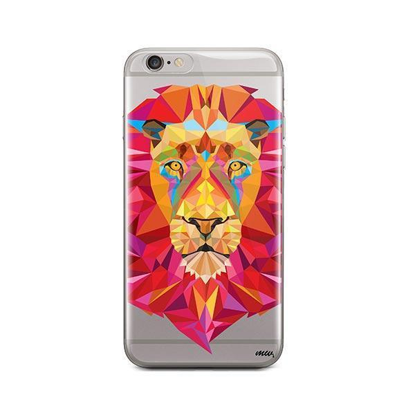 Geometric Lion - iPhone 6 / 6S Case Clear