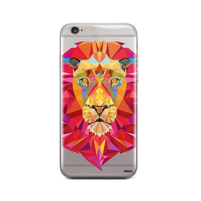Geometric Lion - iPhone Clear Case