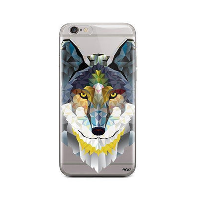 Geometric Wolf - iPhone Clear Case
