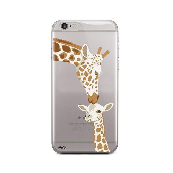 Giraffe Love - iPhone 6 / 6S Case Clear