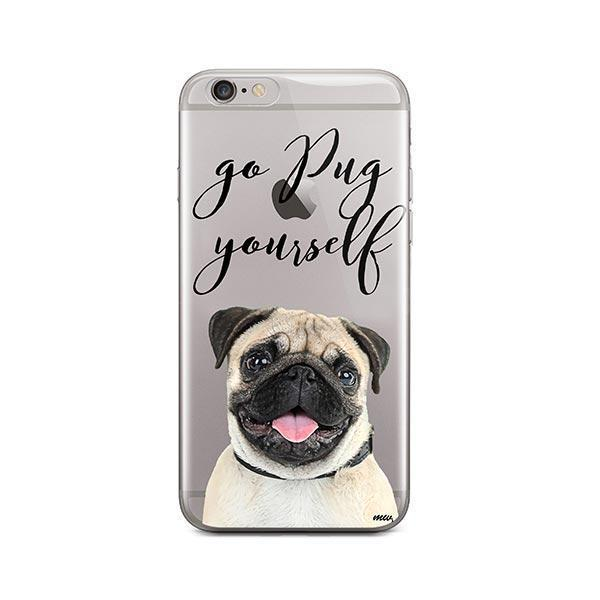 Go Pug Yourself - iPhone 6 Plus / 6S Plus Clear Case