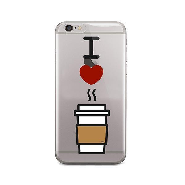I Love Coffee iPhone 6 Plus / 6S Plus Case Clear