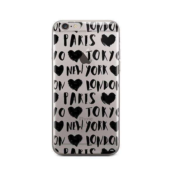 Paris Tokyo London New york iPhone 6 / 6S Case Clear
