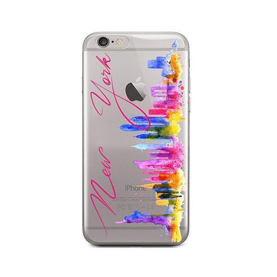 Watercolor New York - iPhone Clear Case