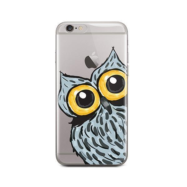 Peeking Owl - iPhone 6 / 6S Case Clear