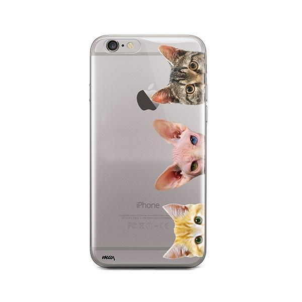 Peeking Cats - iPhone 6 Plus / 6S Plus Clear Case
