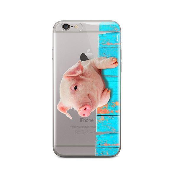 Pig on a Fence - iPhone 6 / 6S Case Clear