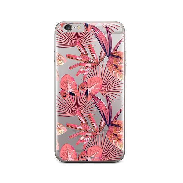 Pink Palm Leaves iPhone 6 Plus / 6S Plus Case Clear