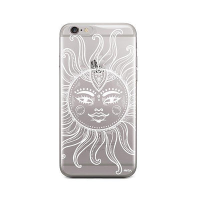 Henna Totemic Sun - iPhone Clear Case