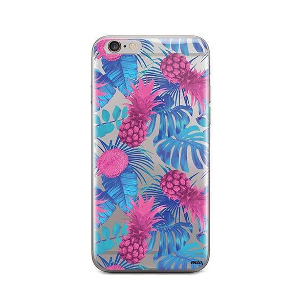 Purple Summertime Pineapple iPhone 6 Plus / 6S Plus Case Clear