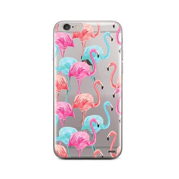 Watercolor Flamingo - iPhone 6 / 6S Case Clear