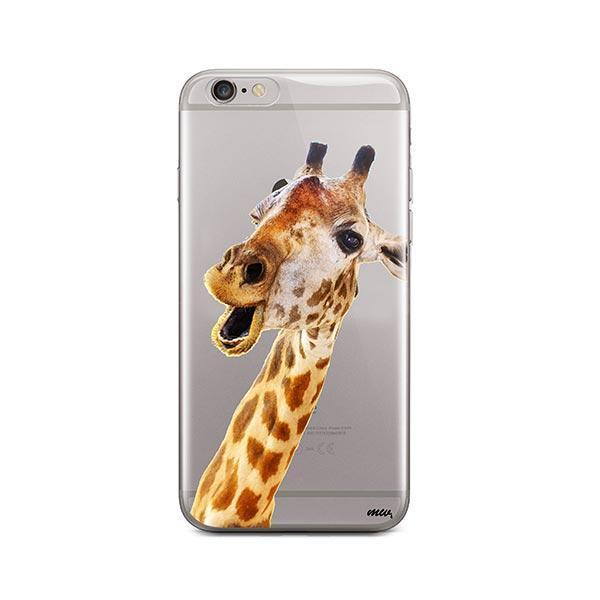 Whoa Giraffe - iPhone 6 / 6S Case Clear