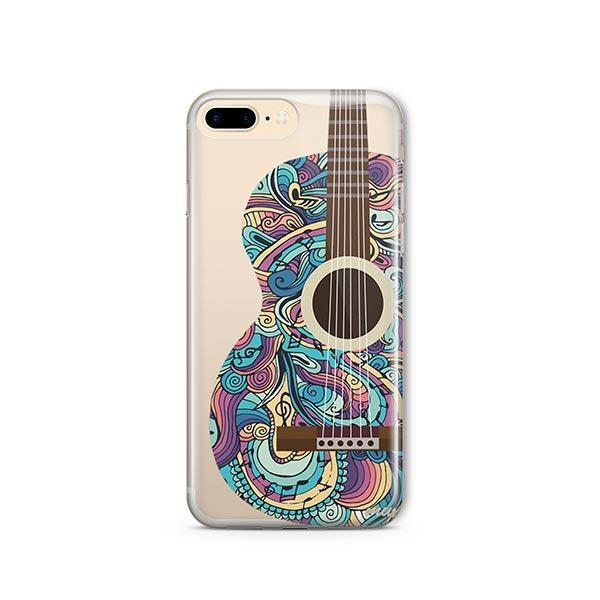 Henna Abstract Guitar iPhone 7 Plus Case Clear
