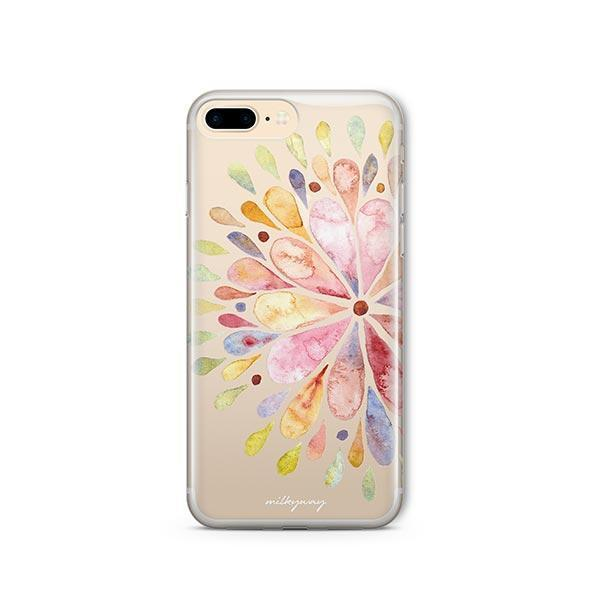 Blissful Mandala iPhone 8 Plus Case Clear